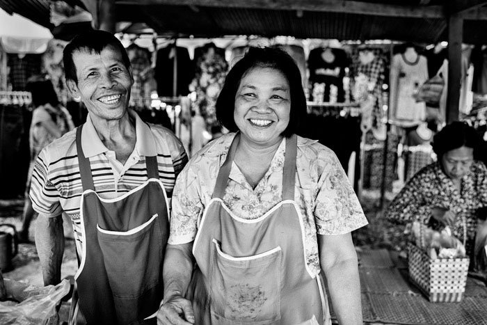 Thai couple at a rural market taken during a Suan Sook Photo Workshop