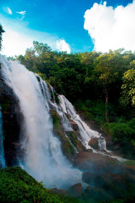 Wachirathan Waterfall on Doi Inthanon near to Suan Sook Boutique bed and breakfast homestay accommodation