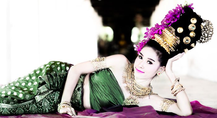 Reclining Thai Model During a Suan Sook Photography Retreat in northern Thailand.