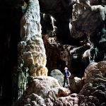 Man  in a cave on Doi Inthanon, Thailand